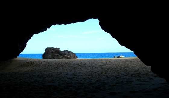 Inside one cave