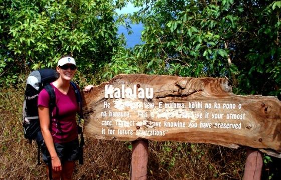 entering Kalalau Beach