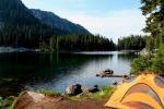 camp at GlacierLake