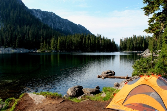 camp at Glacier Lake