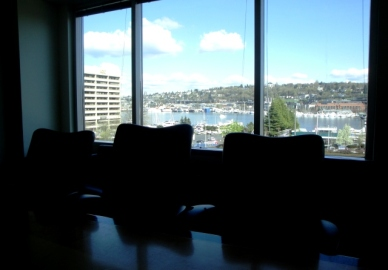 view of Lake Union from my office's conference room