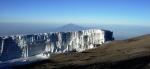 Mt Meru from the top ofKilimanjaro