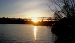 sunset near UW campus