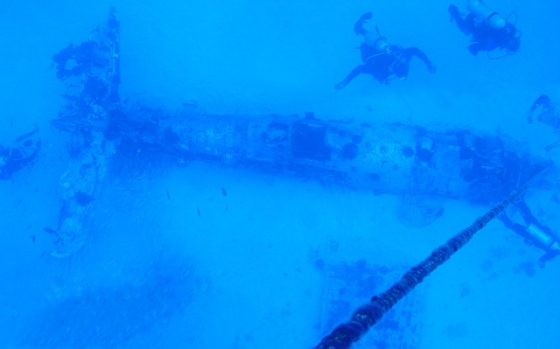 From Above the Corsair Wreck
