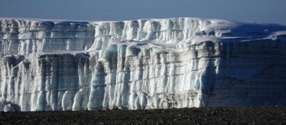 Glacier on Kilimanjaro