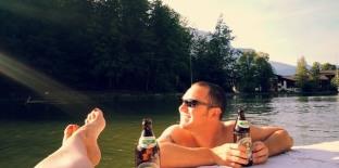 Bavarian swim up bar