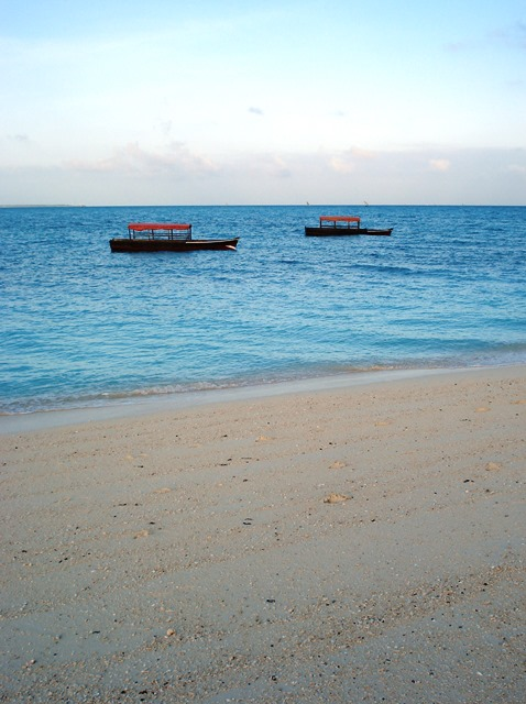 boats offshore at Kendwa Beach