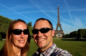 Josh and I at the Eiffel Tower