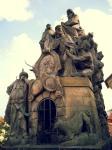 Statues of Saints John of Matha, Felix of Valois, andIvan