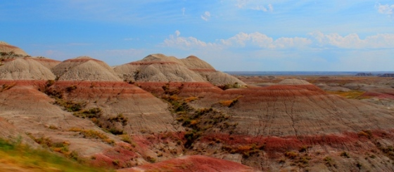 Badlands painted hills