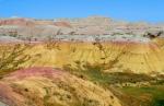 Badlands yellow hills