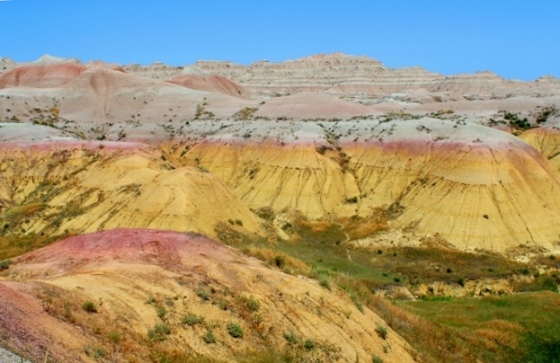 Badlands yellow hills
