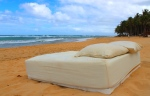 bed on thebeach