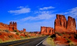 Driving through Arches National Park