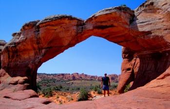 Josh in an arch