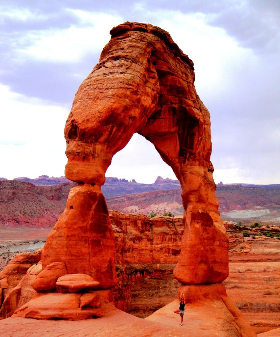 Yoga at Delicate Arch