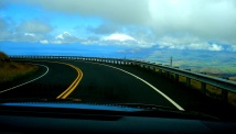driving down Haleakala