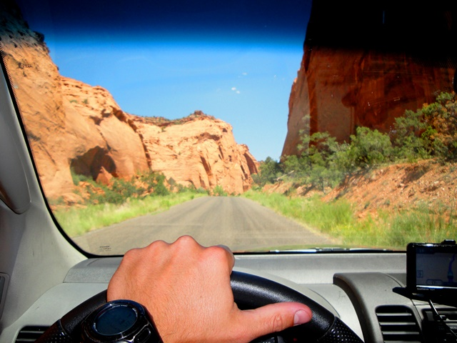 Driving through Capitol Reef NP- UT