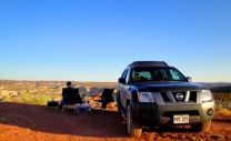 Camping at Horseshoe Canyon, Canyonlands, UT