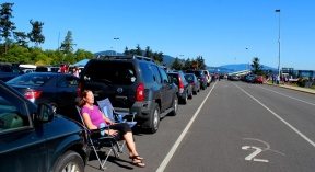 waiting for the Orcas Island Ferry-WA